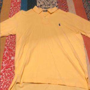 Polo men's medium short sleeve top.   Yellow
